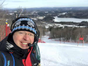Dr. Desio volunteering his time at Wachusett Mountain Race Team Giant Slalom Race
